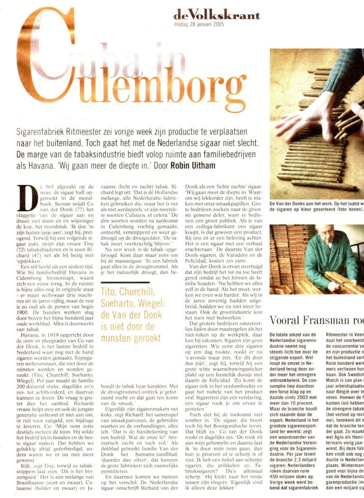 Volkskrant 28-1-2005